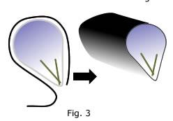 six petal flower cane