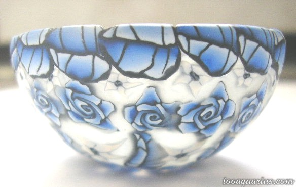 blue white mini bowl