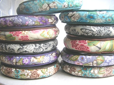 polymer clay bangles