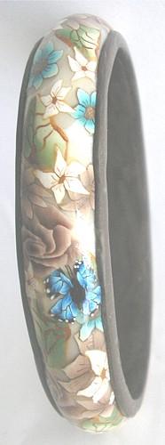 brown polymer clay bangle