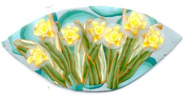 polymer clay daffodil