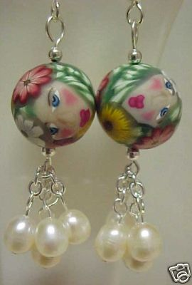 daytona luxury earrings polymer clay beads