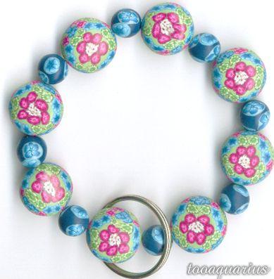 keychain bracelet clay beads