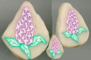 lilac polymer clay cane