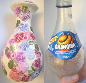polymer clay orangina vase