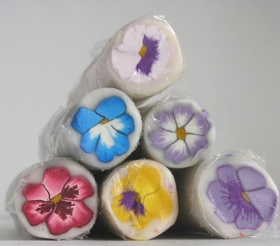 pansy polymer clay canes