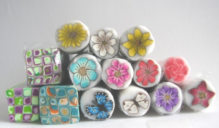 polymer clay butterfly canes