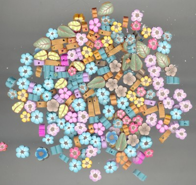 polymer clay slice beads