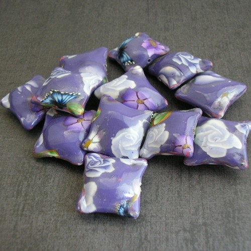Lavender Pillow Beads | Polymer Clay Beads