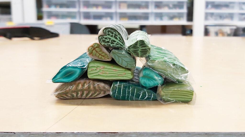 polymer clay leaf canes